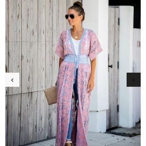 🍭Cotton-candy Duster Kimono NEW w Tags